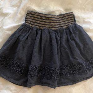 Candies girls dark denim chambray skirt Small